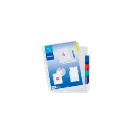 Джоб с перфорация, разделителен, 6 цвята, А4, РР