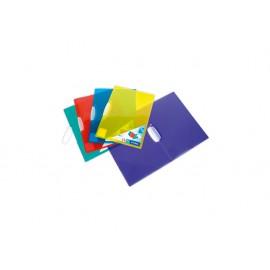 Папка с клип V-CLIP, 30 л., РР, цветна, прозрачна
