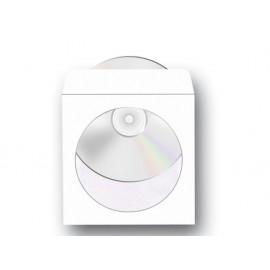 Плик CD, 125х125, бял с лепило, 80 г/м2