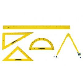 Триъгълник училищен, пластмаса, 50 см, 60°