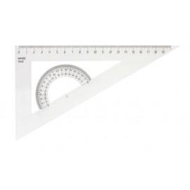 Триъгълник с транспортир 215 мм, 60°