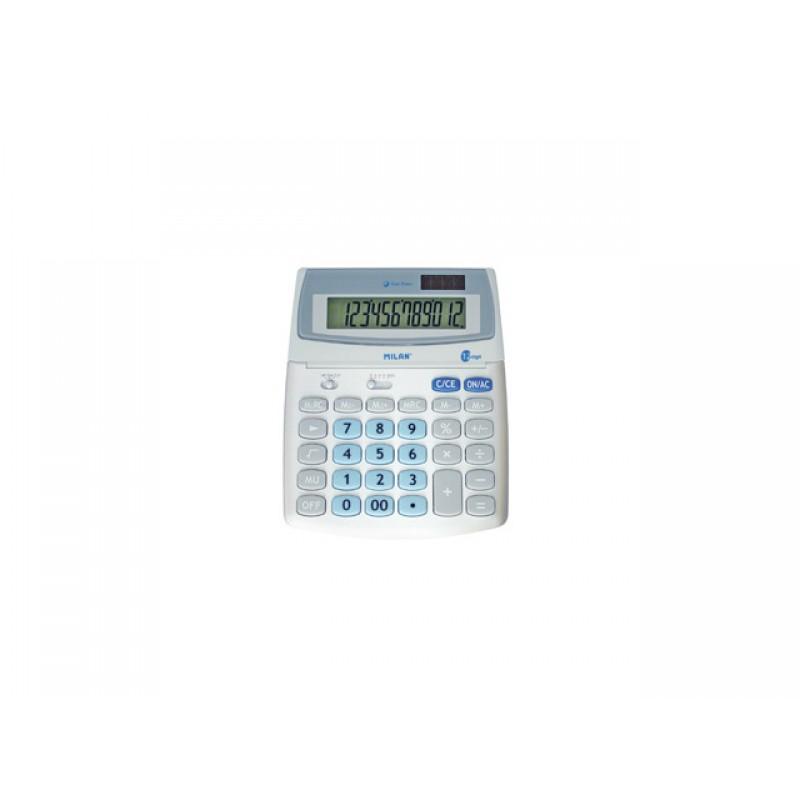 Калкулатор, 12 разр., 200х160х30 мм, сив, сини бутони