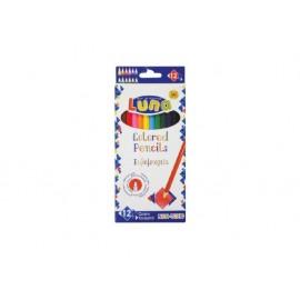 Моливи 12 цв., шестоъгълни Ø 3 мм графит, 17.5 см