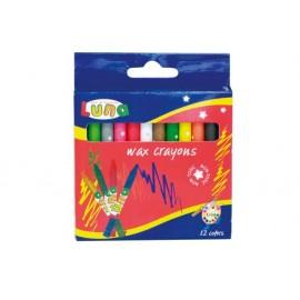 Пастел восъчен, 12 цвята