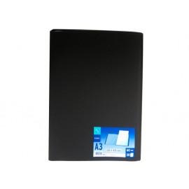 Папка с 30 джоба, черна, A3, РР