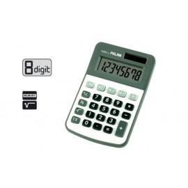 Калкулатор 8 разр., 110 г, 120x78x21 мм, сив/бял