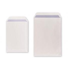 Плик джоб, бял с лента, 90 г/м2, FSC