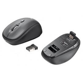 Мишка оптична, безжична, черна/сива, USB, скрол, бутон за резолюция