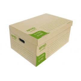 Кашон архивен кафяв 550х360х255 мм, микровелпапе 3 мм