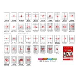 Етикети лепящи обли, 100 л., A4