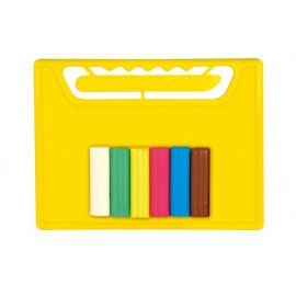 Комплект дъска с ножче и пластилин 6 цвята
