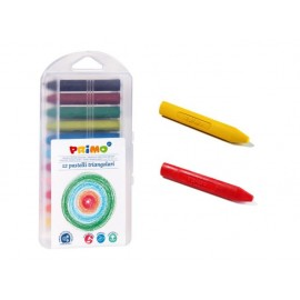 Пастел восъчен, триъгълен, 12 цвята, PPL кутия