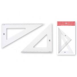 Триъгълник технически, прозрачна пластмаса