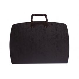 Чанта за чертежи овал с цип, 550x750, черна