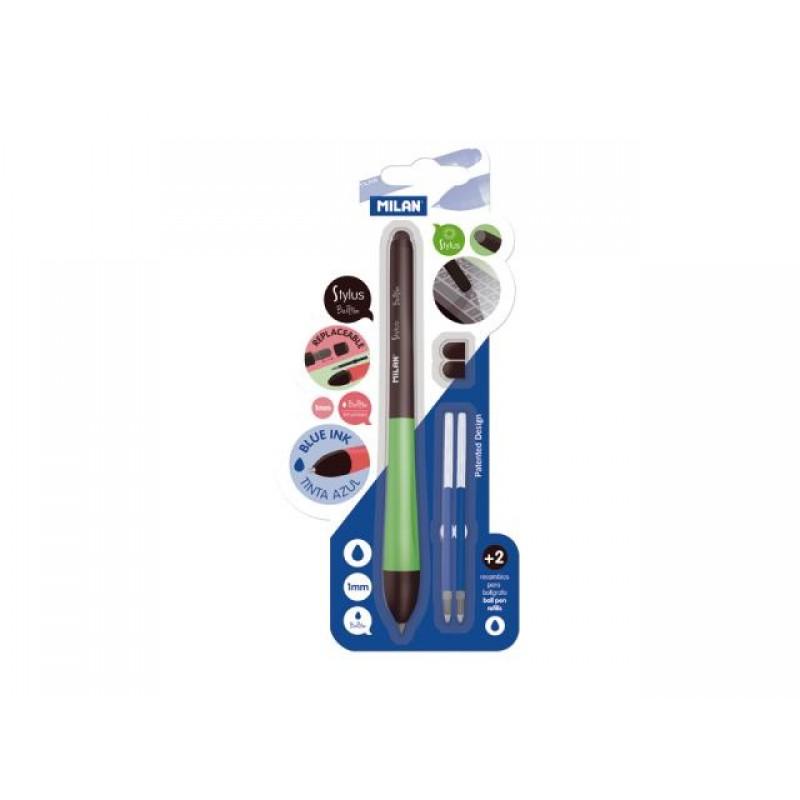 Химикалка Stylus, 1.0 мм, синя, блистер