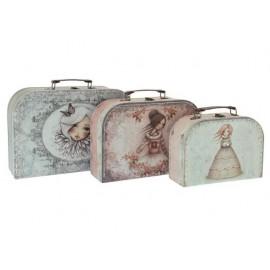 Комплект куфари 3 броя, малък, голям и среден