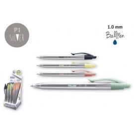 Химикалка автоматична P1 Silver, 1.0 мм