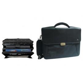 Бизнес чанта за документи и лаптоп, полиестер/кожа, 415х315х120
