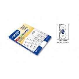 Етикети лепящи за CD, 100 л., A4