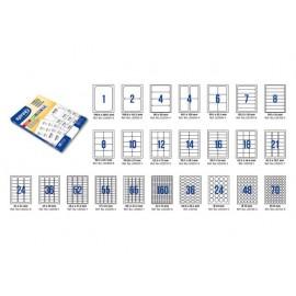 Етикети лепящи за класьор, 100 л., A4