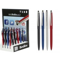 Химикалка 108 T Stylus, хром, черна, синя, червена