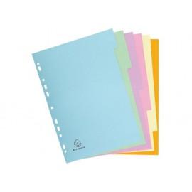 Разделител 6 цвята, еко картон Forever, А4