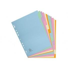 Разделител 12 цвята, еко картон Forever, А4