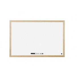 Бяла дъска с рамка MDF 90х120 см