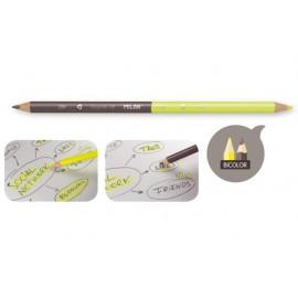 Молив черен/флуо за маркиране, триъгълен, Ø 2.9 мм графит