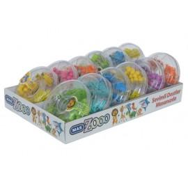 Комплект Zooo кламери, щипки, пинчета, 7 цв.