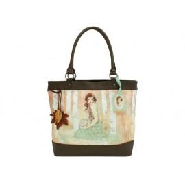 Чанта за рамо кожа Mademoiselle Snow, 44х36х14 см