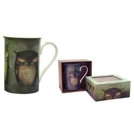 Чаша порцеланова Grumpy Owl, 12.4х8 см