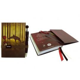 Дневник с ластик и химикалка, 10.2х15 см, 96 л. Red Riding Hood