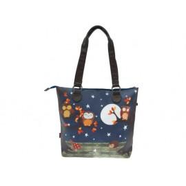 Чанта за рамо кожа Night Owls, 32x33x11 см