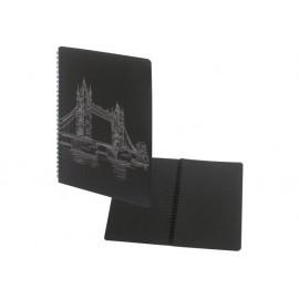 Тетрадка 17x24 Black, 40 черни л., спирала