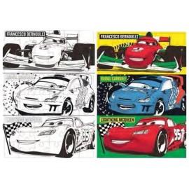 Пъзел двулицев 48 части, Cars, 50х35 см, за оцветяване
