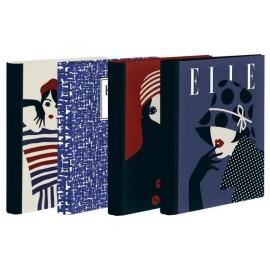 Папка 2 ринга Elle, 45 мм, А4, картон объл гръб