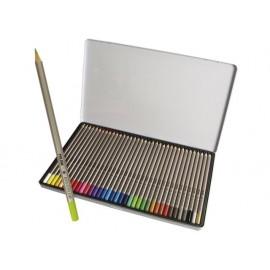 Моливи 36 цв., мет.кутия, шестоъг.213, Ø 3.3 мм графит