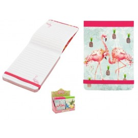 Бележник с ластик Flamingos, 9х12.5 см