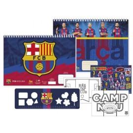 Скицник Barcelona 40 л. + шаблони, линийка, стикери и 2 стр. за оцветяване, 23x33