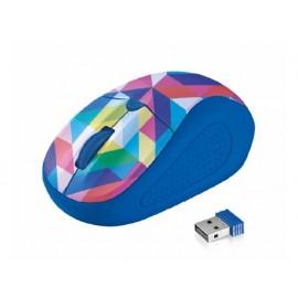 Мишка оптична, безжична, синя/Geometry, USB, скрол, грип зона