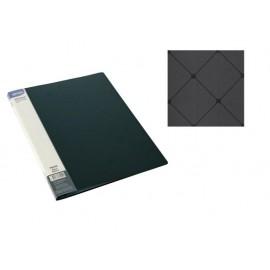 Папка с джобове, A4 PP, черна, Square