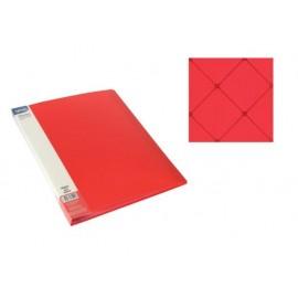 Папка с джобове, A4 PP, червена, Square
