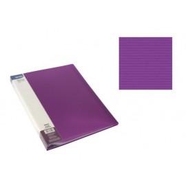 Папка с джобове, A4 PP, лилава, Stripes