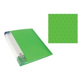 Папка с джобове, A4 PP, зелена, Diamond