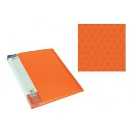 Папка с джобове, A4 PP, оранж, Diamond
