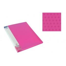 Папка с джобове, A4 PP, розова, Dots