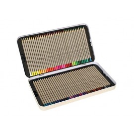Моливи 72 цв., шестоъгълни, Ø 3 мм графит, метална кутия