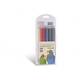 Моливи 24 цв., шестоъгълни, акварел+остр.+гума+четка, PPL кутия, Ø 3.3 мм