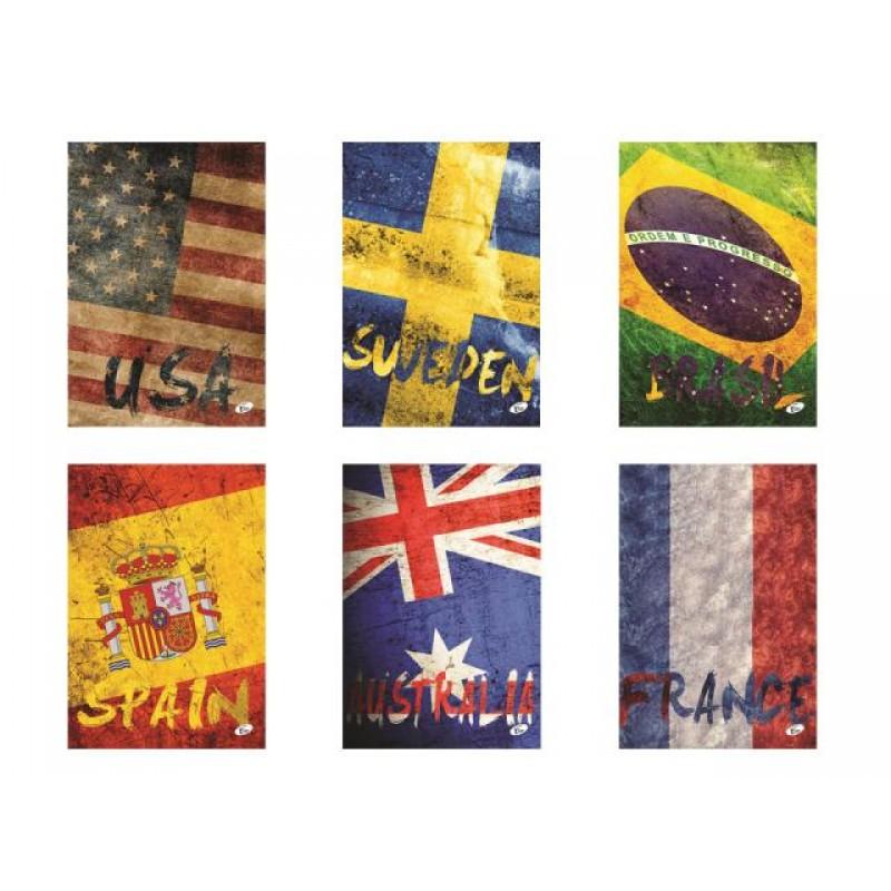 Тетрадка Flags, 60+2 л.ред, 70 г/м2